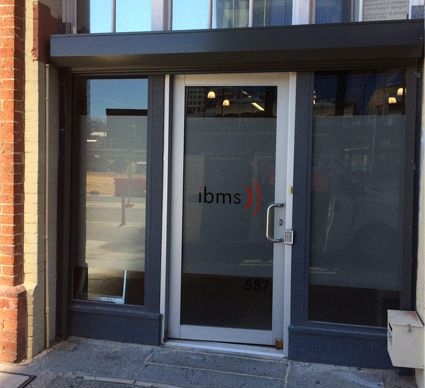 Commercial glass and aluminium door