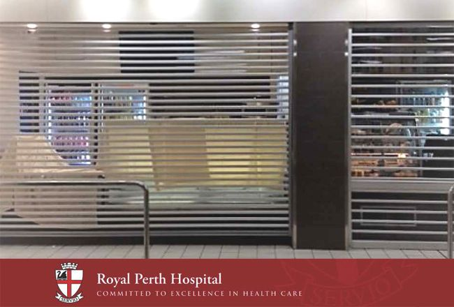 Commercial Roller Shutter - Perth Royal Hospital