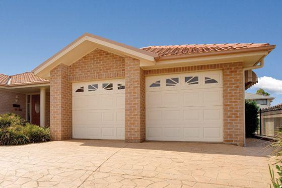 Cream garage doors