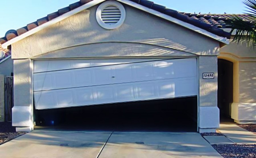 Broken Garage Door Needing Repair