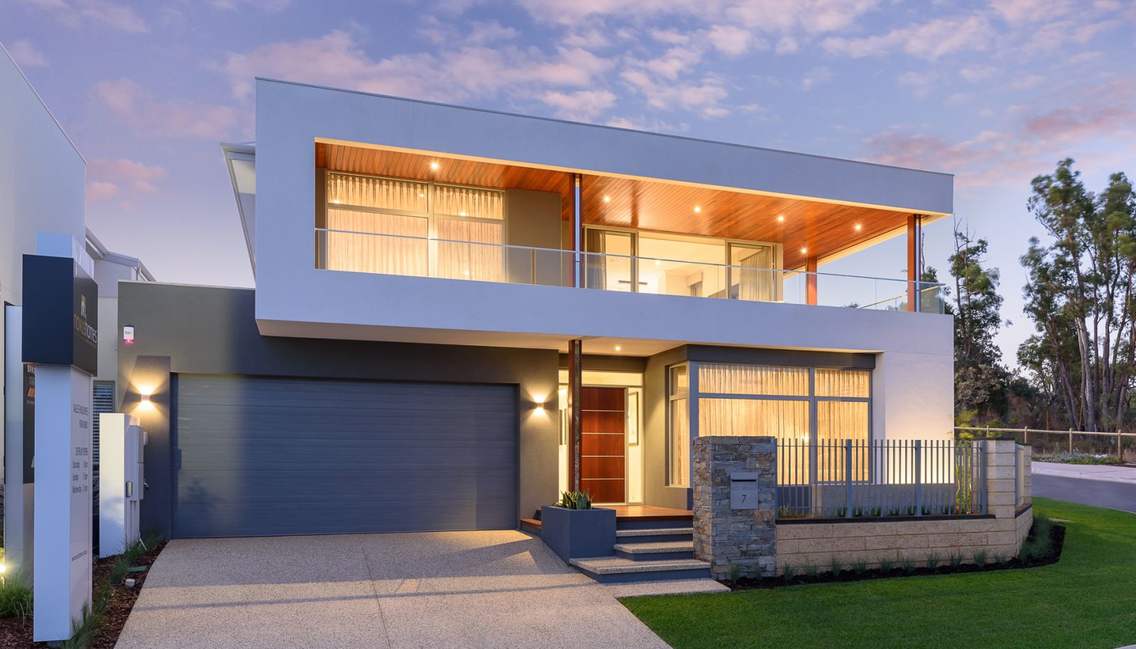 Blue Sectional Garage Door in Perth Home