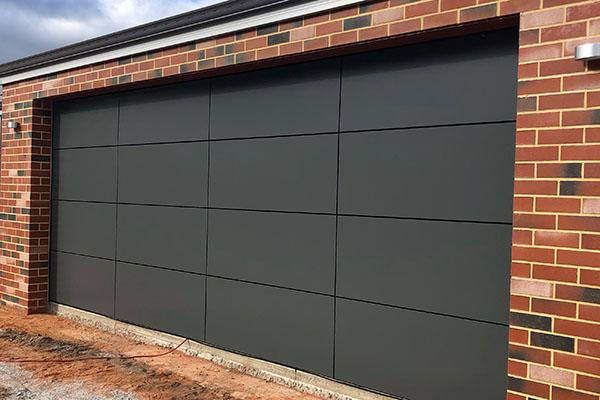 Alipanel garage door - Equal Quarters - Dark Grey
