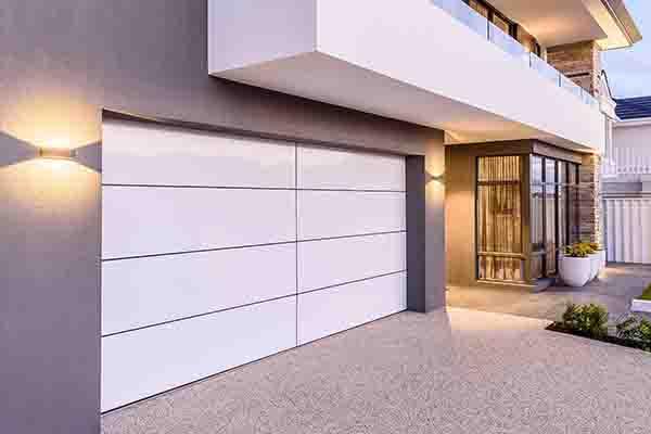 white Aluminium Composite garage door