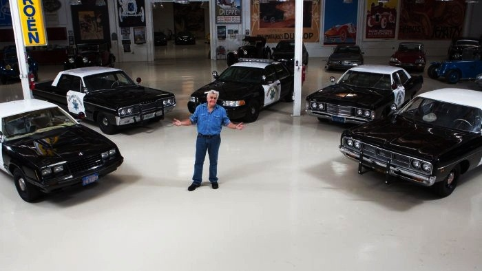 J Leno and his car collection
