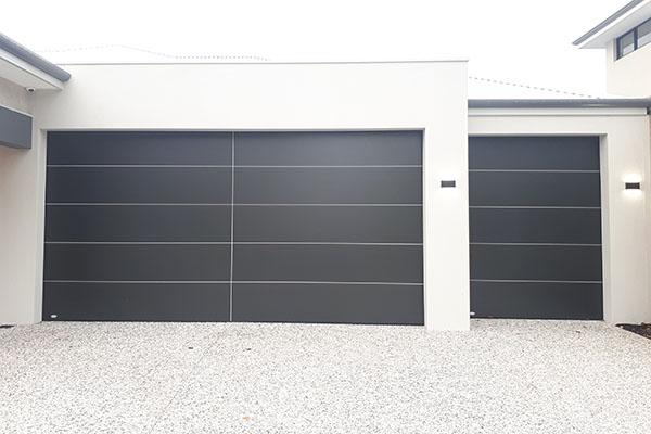 Onyx panel garage door