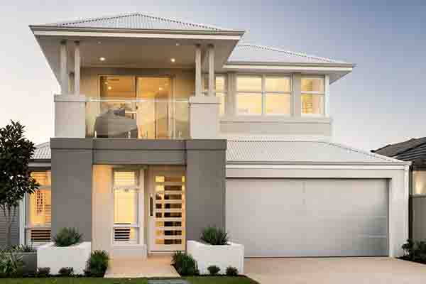 Silver composite white garage door