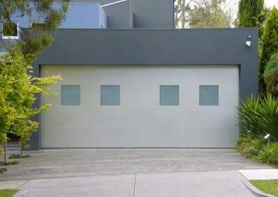 Cream Tilt Doors - Garage Doors with windows