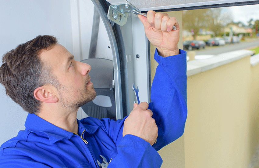 Garage door repairs with hardware and spare parts