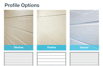 Profile options - Unicote Garage Doors