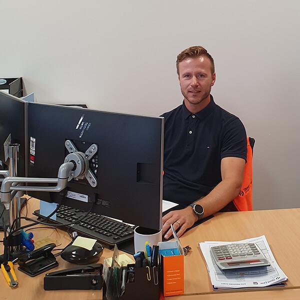 Erik Koops at Steel Line office